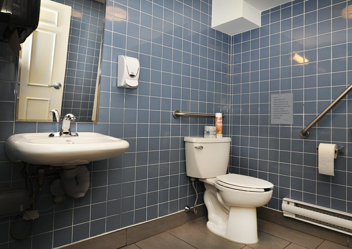 Bathroom at Munro Centre.