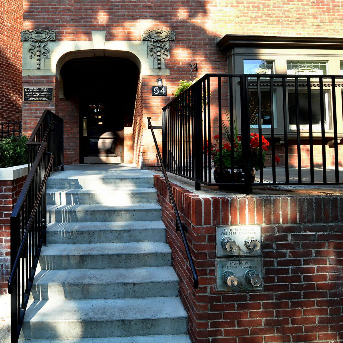 Front stairs and entrance at Punanai Centre.