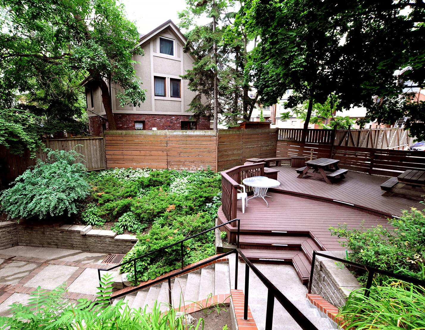 Patio, deck and garden area in Punanai Centre backyard.