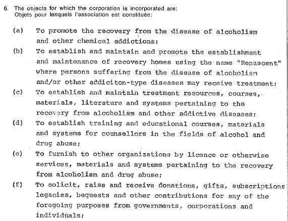 1983 Foundation incorporation document