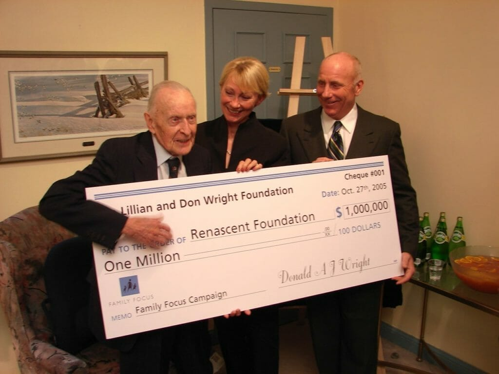 Don Wright Birthday celebration and donation to Renascent Foundation