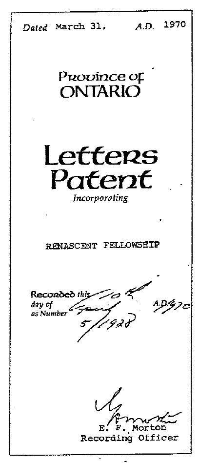 Letters of Patent