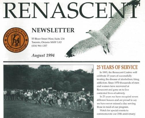 25th Anniversary Renascent Newsletter