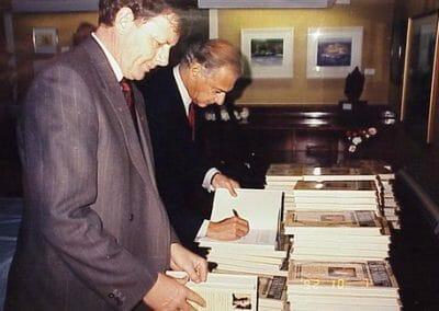 Les Talbot book signing