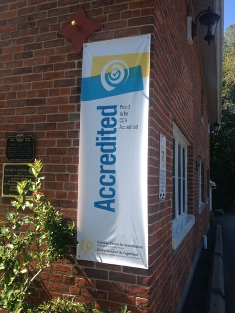 Canadian Centre for Accreditation banner