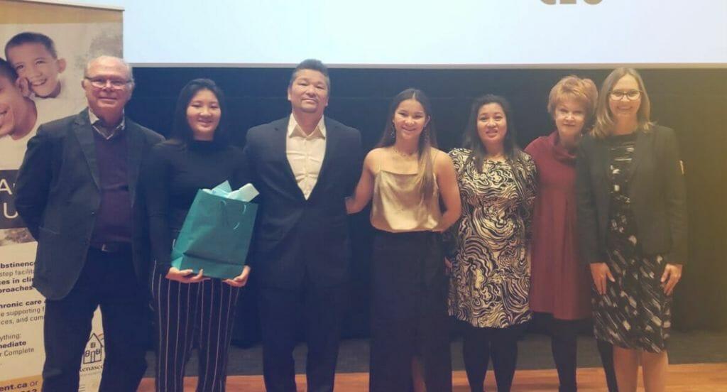 Wong-Lee family at Renascent Awards.